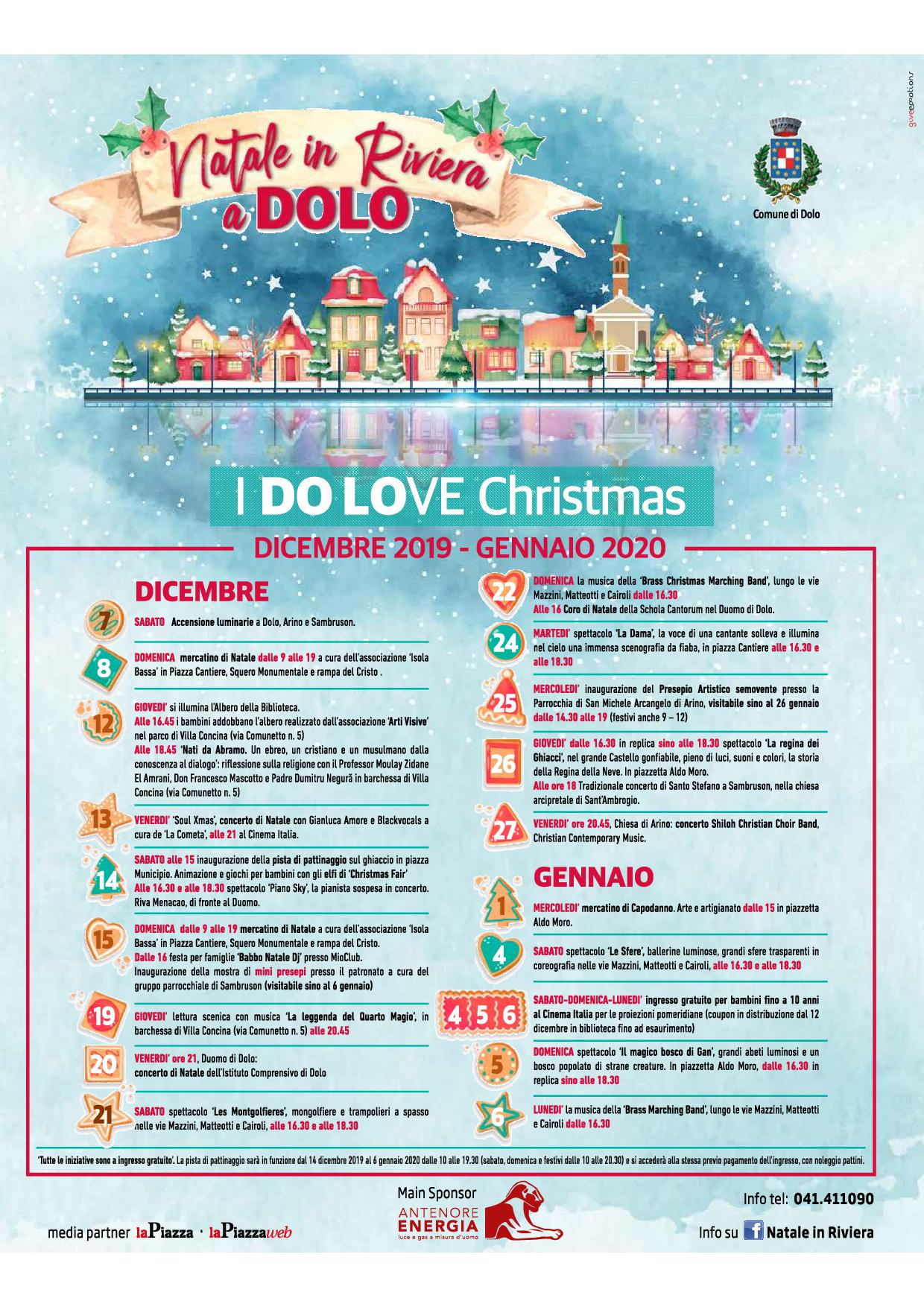 'NATALE IN RIVIERA A DOLO I DO LOVE CHRISTMAS'