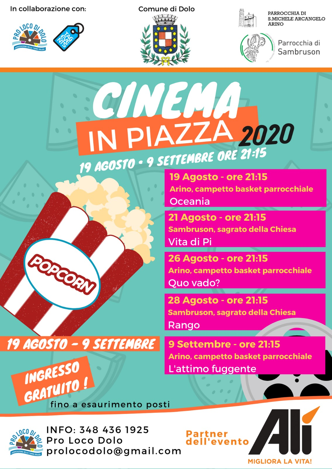 CINEMA IN PIAZZA 2020