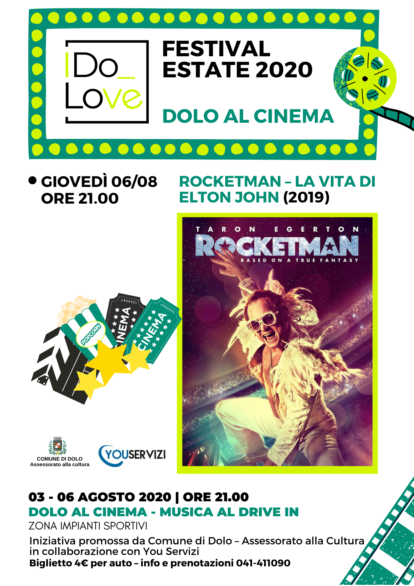 'DOLO AL CINEMA - MUSICA AL DRIVE IN'